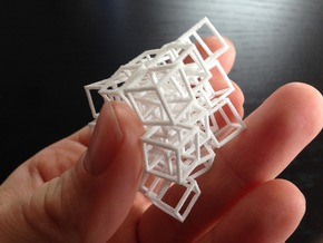 Interlocked Cubes - 3D Printed - SLS Technology in White Natural Versatile Plastic