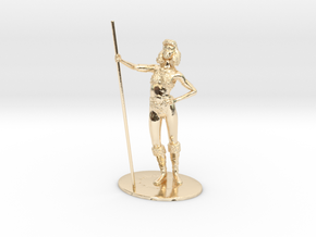 Diana (Acrobat) Miniature in 14k Gold Plated: 1:60.96