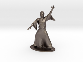 Magic-User Miniature in Polished Bronzed Silver Steel: 1:60.96