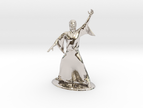 Magic-User Miniature in Rhodium Plated Brass: 1:60.96