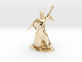 Magic-User Miniature in 14K Yellow Gold: 1:60.96