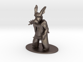 Cerebus the Aardvark Miniature in Polished Bronzed Silver Steel: 1:60.96