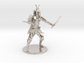 Samurai Miniature in Platinum: 1:60.96