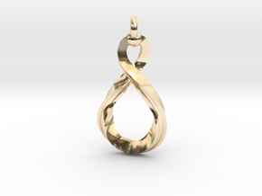 Mobius strip4 31mm in 14K Yellow Gold
