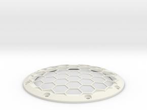 RE40 Zierring mit Gitter und 8 Schraublöchern in White Natural Versatile Plastic