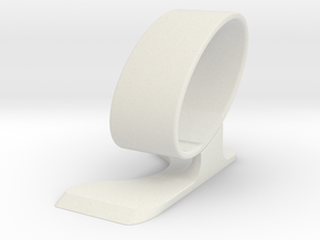 Wristwatch stand - side A  in White Natural Versatile Plastic