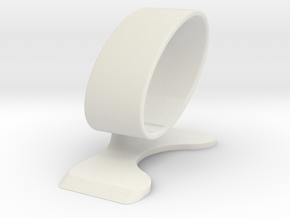 Wristwatch stand - side B in White Natural Versatile Plastic