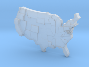 USA by Cost Of Living in Smooth Fine Detail Plastic