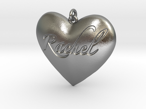 Rachel in Interlocking Raw Silver: Small