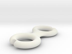 Cord Winder in White Natural Versatile Plastic