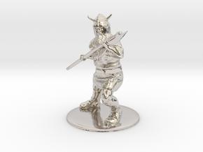 Dwarf with Bardiche Miniature in Platinum: 1:60.96