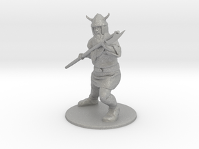 Dwarf with Bardiche Miniature in Raw Aluminum: 1:60.96