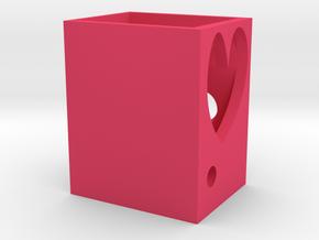 造型筆筒.stl in Pink Strong & Flexible Polished