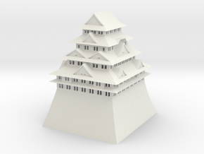 Nagoya Castle in White Natural Versatile Plastic