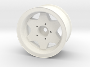 "1.7"" CW / Borbet Wheel in White Strong & Flexible Polished"