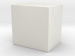 Protecting Block in White Natural Versatile Plastic