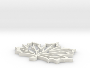 Maple leaf in White Strong & Flexible: Medium