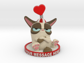 My Grumpy Valentine Custom Message in Full Color Sandstone