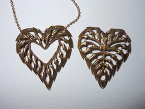 rib heart 01 (printing) in White Natural Versatile Plastic