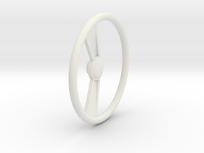 Steering Wheel V1 1/12 in White Natural Versatile Plastic