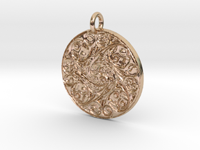 Spiritual Soul Pendant in 14k Rose Gold Plated Brass