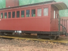 Victorian Railways NG NB platform car body in White Strong & Flexible