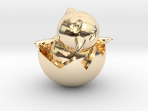 Hatching Chick Emoji Pendant in 14k Gold Plated
