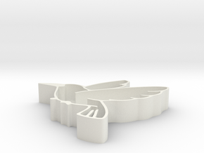Bird shape fruit tray in White Natural Versatile Plastic