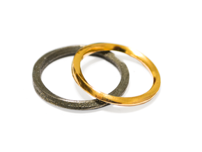 Möbius Ring in Polished Brass: 11 / 64