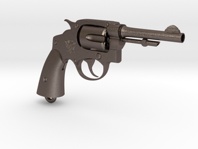 Smith & Wesson M10 R in Polished Bronzed Silver Steel