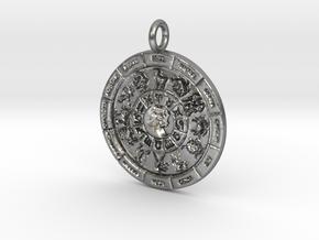 Zodiac 12 Pendant in Natural Silver