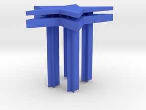 Star Wood Chair in Blue Processed Versatile Plastic