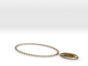 flash of necklace in Polished Gold Steel