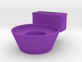 Toilet storage tube in Purple Processed Versatile Plastic