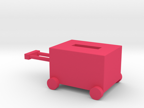 Luggage box in Pink Processed Versatile Plastic