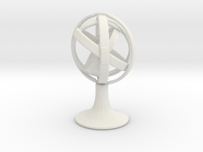 Printle Thing Gyroscope - 1/24 in White Natural Versatile Plastic