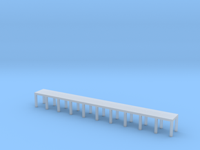 'N Scale' - 5' wide x 50' long Engine Service Plat in Smooth Fine Detail Plastic