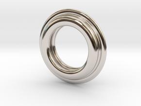PNEUS Pendant (Michelin) in Rhodium Plated Brass