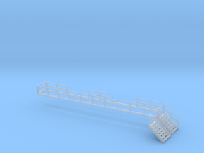 'N Scale' - Eng. Serv. Platform - Stairs/Railings in Frosted Ultra Detail