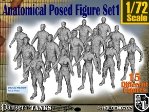1-72 Anatomical Pose Figure Set1 in Smooth Fine Detail Plastic