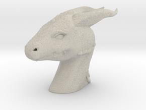 Dragon Head in Natural Sandstone: Small
