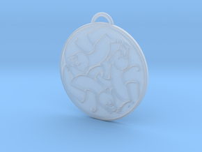 Merida's Celtic Bear Pendant/Keyring in Frosted Ultra Detail
