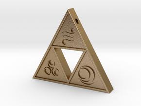 Goddess Triforce in Polished Gold Steel