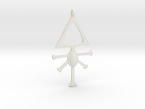 Eldar Rune Pendant 1 in White Natural Versatile Plastic