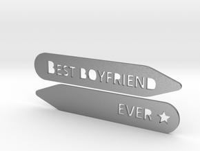 Collar stay: Best Boyfriend Ever  in Natural Silver