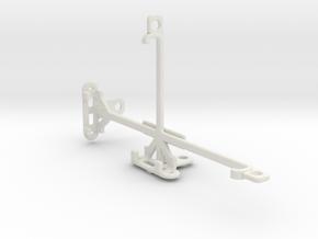 Yezz Monte Carlo 55 LTE VR tripod mount in White Natural Versatile Plastic
