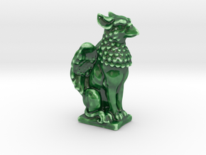 Griffin porcelain mini Statue in Gloss Oribe Green Porcelain: Large