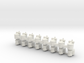 Oo Air Compressor x8 in White Strong & Flexible: 1:76 - OO