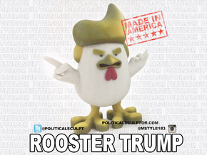 China's Donald Trump Rooster in Full Color Sandstone