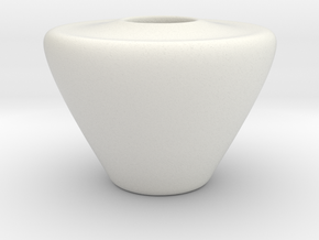 Vase Hollow Form 2016-0001 various scales in White Natural Versatile Plastic: 1:12